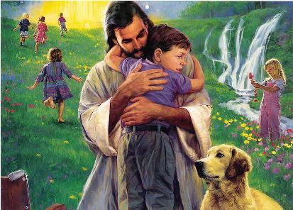 Jesus and little boy